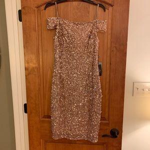 Sparkling Rose Gold Cocktail Dress